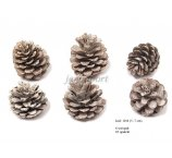 PINE FRUIT  5-7 CM WHITE WASH  6 PC/PB