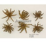 SPIDERGUM CLAWS 8-10 cm NATUR/GREEN  x  6 PC / PB