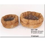 COCO PALM BASKETS S/2