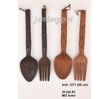 SPOON AND FORK 48 CM DEKOR x 2 COLORS
