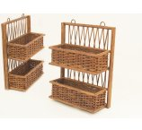 SHELF RATTAN BROWN 41 CM-H-