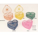 ABACA BOX HEART SHAPE WITH COVER 12,5 CM