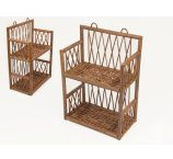 RATTAN SHELF BROWN 36 CM -H-