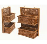 RATTAN SHELF BROWN 41 CM-H-