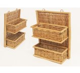 RATTAN SHELF NATURAL 41 CM-H-