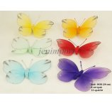 BUTTERFLY 20  CM 6 COLORS IN PB 6 PC