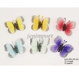 BUTTERFLY 10 CM 6 COLORS IN PB 12 PC
