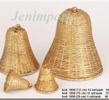 BELL 15 CM RATTAN GOLD  COLOR