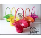 BAMBOO BASKETS  16 CM D- MIX COLOR NOT AVAILABLE RED and PINK