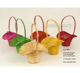 BAMBOO BASKET 10 cm mix color NOT AVAILABLE PINK