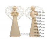 ANGEL ABACA  WHITE 30 CM STANDING