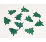 CHRISTMAS GARLAND ABACA 180 cm, 10 pc of christmas tree x 10 cm