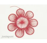 ABACA FLOWER RED 15  CM