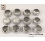 BEL CUP BIG SILVER COLOR  7,5 CM- 9 CM 12 PC/PB