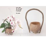 BASKET COCO SHELL 40CM  (WITH OUT ORCHIDEA)