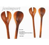 WOODEN SPOON AND FORK 36 CM