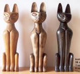 CAT FROM EXOTIC WOOD 58 CM