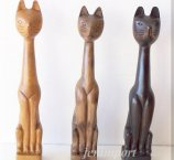 CAT FROM EXOTIC WOOD 30 CM