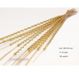 TING TING DOUBLE GOLD BEADS 90 CM - 1 DOZEN