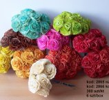 ROSA 7-8 CM -9 COLOR FROM DRY MAGNOLIA LEAFS