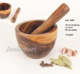 MORTAR 15 CM AND PESTLE 22 CM WOOD ACACIA