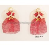 ABACA ANGEL  15 CM RED 6 PC/PB