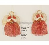 ABACA ANGEL RED-GOLD 7,5 CM -12 PC/PB
