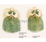ABACA ANGEL GREEN-GOLD 15 CM -6 PC/PB