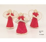ANGEL ABACA 5 CM RED STANDING 1 2PC/PACK