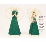 ANGEL ABACA  GREEN STANDING  5CM - 12PC/PB