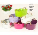 ZINC PLANTER 8 COLORS 43 CM X 28 CM