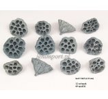 LOTUS 6-8 CM MEDIUM GREY COLOR  12 PC/PB