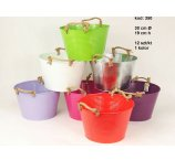 ZINC PLANTER 7 COLORS 30 CM- D X 19 CM H