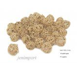 RATAN BALL 3 CM NATURAL 36 PC/PACK