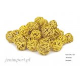 RATAN BALL 3 CM  YELLOW 36 PC/PACK