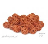 RATAN BALL 3 CM ORANGE 36 PC/PACK