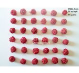 RATAN BALL 3 CM RED 36 PC/PACK