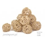 RATAN BALL 4 CM  NATURAL 12PC/PACK