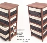 PINE WOOD CABINET BROWN 77 cm H