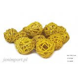 RATAN BALL 4 CM YELLOW 12PC/PACK