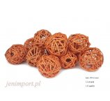 RATAN BALL 4 CM  ORANGE 12 PC/PACK