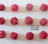 RATAN BALL 4 CM RED 12 PC/PACK