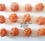 RATAN BALL  5 CM  RED 12PC/PACK