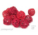 RATAN BALL 5CM RED 12PC/PACK