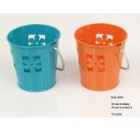 METAL FLOWER POT 2 COLORS 10CM-D