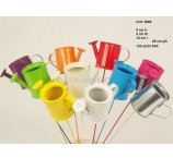 ZINC WATERING CAN H-6 CMx10CM L  ON WIRE 26 CM