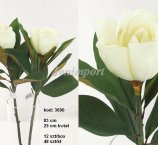 MAGNOLIA 83 CM- CREAM WHITE + 8 LEAFS-FRESH TOUCH