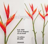 HELIKONIA 121 CM  ORANGE FRESH TOUCH