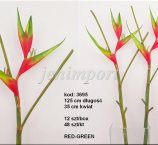 HELICONIA 121 CM RED -GREEN FRESH TOUCH