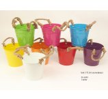 ZINC PLANTER 16 CM D 9 COLORS